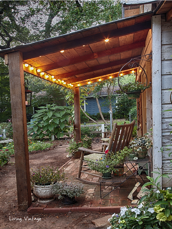 Jenny's Garden Shed . . . Revealed! - Living Vintage on Patio Lean To Ideas id=12166